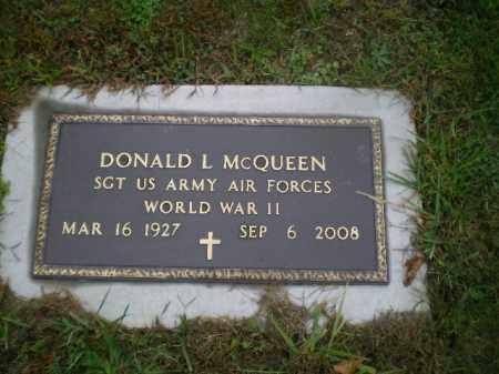 MCQUEEN, DONALD L - Harrison County, Ohio | DONALD L MCQUEEN - Ohio Gravestone Photos
