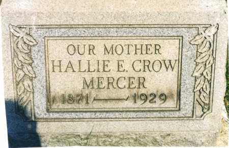 MERCER, HALLIE E. - Harrison County, Ohio | HALLIE E. MERCER - Ohio Gravestone Photos
