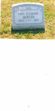 MERCER, PAUL PLUMMER - Harrison County, Ohio | PAUL PLUMMER MERCER - Ohio Gravestone Photos