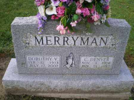 MERRYMAN, CHARLES DENVER - Harrison County, Ohio | CHARLES DENVER MERRYMAN - Ohio Gravestone Photos
