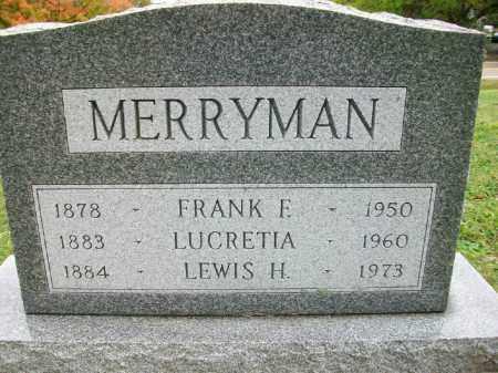 MERRYMAN, FRANK FAIRPLAY - Harrison County, Ohio | FRANK FAIRPLAY MERRYMAN - Ohio Gravestone Photos