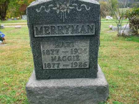 "MERRYMAN, MARGARET LEONA ""MAGGIE"" - Harrison County, Ohio | MARGARET LEONA ""MAGGIE"" MERRYMAN - Ohio Gravestone Photos"