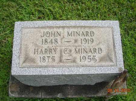 MINARD, JOHN - Harrison County, Ohio   JOHN MINARD - Ohio Gravestone Photos