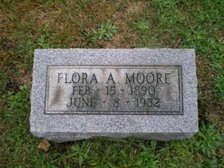 MOORE, FLORA A - Harrison County, Ohio   FLORA A MOORE - Ohio Gravestone Photos