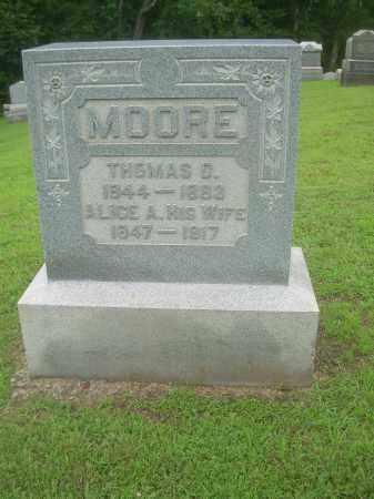 MOORE, THOMAS D. - Harrison County, Ohio | THOMAS D. MOORE - Ohio Gravestone Photos