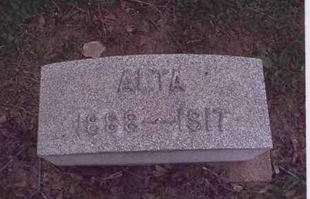 MORGAN, ALTA - Harrison County, Ohio | ALTA MORGAN - Ohio Gravestone Photos