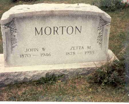 MORTON, JOHN WESLEY - Harrison County, Ohio | JOHN WESLEY MORTON - Ohio Gravestone Photos