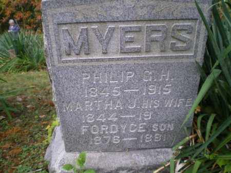 MYERS, MARTHA J - Harrison County, Ohio | MARTHA J MYERS - Ohio Gravestone Photos
