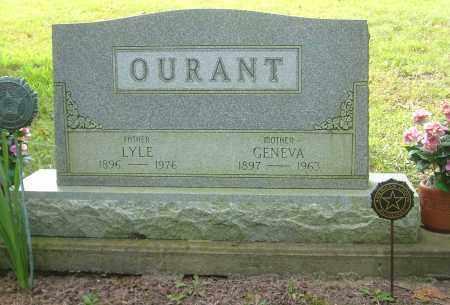 HUGH OURANT, GENEVA - Harrison County, Ohio | GENEVA HUGH OURANT - Ohio Gravestone Photos