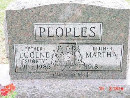 PEOPLES, EUGENE - Harrison County, Ohio | EUGENE PEOPLES - Ohio Gravestone Photos