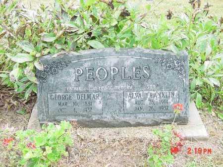 PEOPLES, GEORGE DELMAR - Harrison County, Ohio | GEORGE DELMAR PEOPLES - Ohio Gravestone Photos