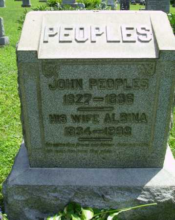 PEOPLES, ALBINA - Harrison County, Ohio | ALBINA PEOPLES - Ohio Gravestone Photos
