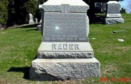 RADER, REV. ISAAC K. - Harrison County, Ohio | REV. ISAAC K. RADER - Ohio Gravestone Photos