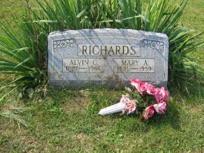RICHARDS, MARY A. - Harrison County, Ohio | MARY A. RICHARDS - Ohio Gravestone Photos