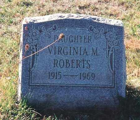 ROBERTS, VIRGINIA M. - Harrison County, Ohio   VIRGINIA M. ROBERTS - Ohio Gravestone Photos