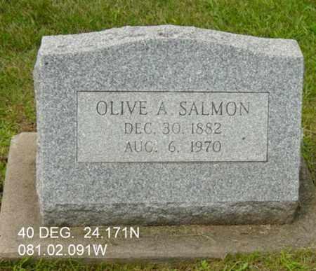 SALMON, OLIVE A. - Harrison County, Ohio | OLIVE A. SALMON - Ohio Gravestone Photos