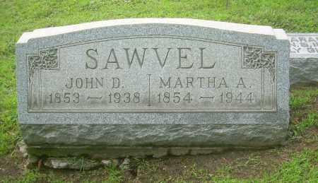 SAWVEL, MARTHA A - Harrison County, Ohio | MARTHA A SAWVEL - Ohio Gravestone Photos