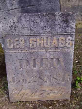 SHUASS, GEORGE - Harrison County, Ohio | GEORGE SHUASS - Ohio Gravestone Photos
