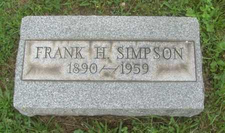 SIMPSON, FRANK H - Harrison County, Ohio | FRANK H SIMPSON - Ohio Gravestone Photos