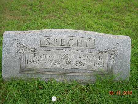 SPECHT, FRANK L - Harrison County, Ohio | FRANK L SPECHT - Ohio Gravestone Photos