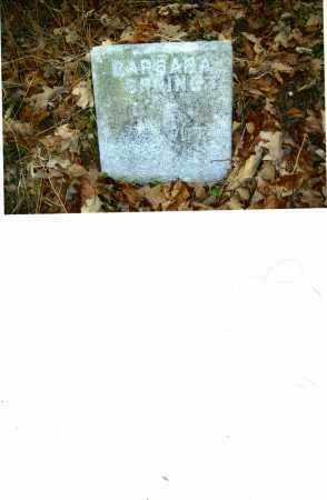 STONEBURNER SPRING, BARBARA - Harrison County, Ohio | BARBARA STONEBURNER SPRING - Ohio Gravestone Photos