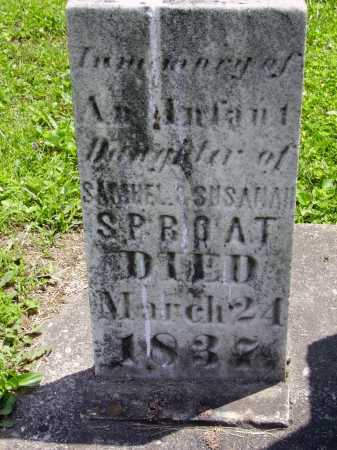 SPROAT, INFANT DAUGHTER - CLOSE VIEW - Harrison County, Ohio | INFANT DAUGHTER - CLOSE VIEW SPROAT - Ohio Gravestone Photos