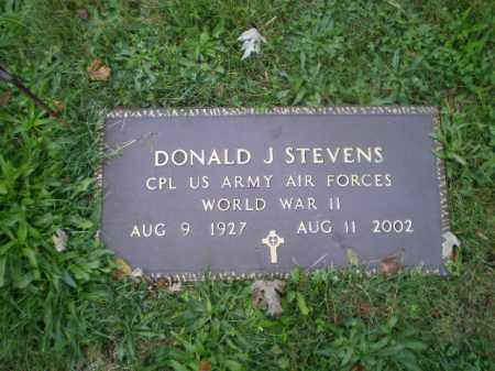 STEVENS, DONALD J - Harrison County, Ohio | DONALD J STEVENS - Ohio Gravestone Photos