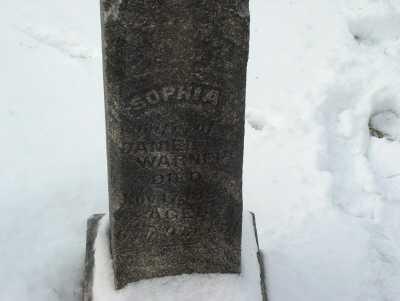 WARNER, SOPHIA - Harrison County, Ohio   SOPHIA WARNER - Ohio Gravestone Photos