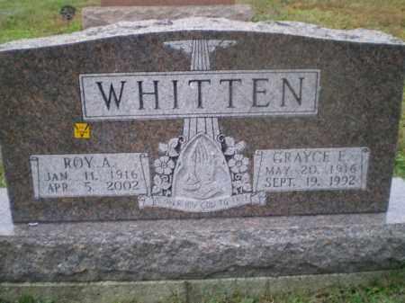WHITTEN, ROY A - Harrison County, Ohio | ROY A WHITTEN - Ohio Gravestone Photos