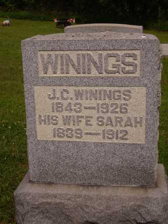 WININGS, SARAH - Harrison County, Ohio | SARAH WININGS - Ohio Gravestone Photos