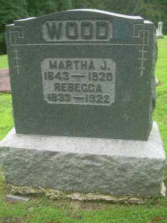 WOOD, REBECCA - Harrison County, Ohio   REBECCA WOOD - Ohio Gravestone Photos