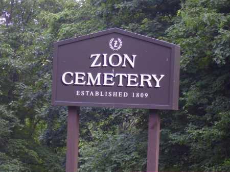 ZION CEMETERY, SIGN - Harrison County, Ohio   SIGN ZION CEMETERY - Ohio Gravestone Photos