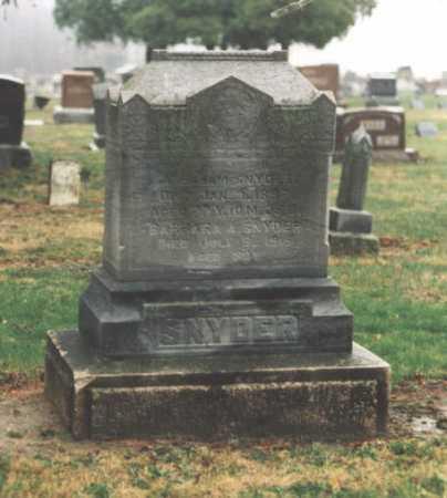 SNYDER, BARBARA - Henry County, Ohio   BARBARA SNYDER - Ohio Gravestone Photos