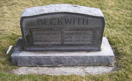 BECKWITH, JOHN HENRY - Highland County, Ohio | JOHN HENRY BECKWITH - Ohio Gravestone Photos