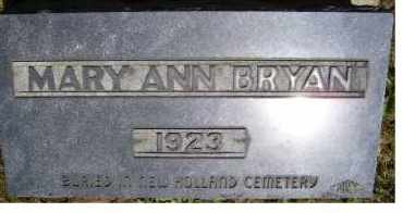 BRYAN, MARY ANN - Highland County, Ohio   MARY ANN BRYAN - Ohio Gravestone Photos