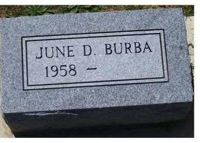 BURBA, JUNE D. - Highland County, Ohio | JUNE D. BURBA - Ohio Gravestone Photos