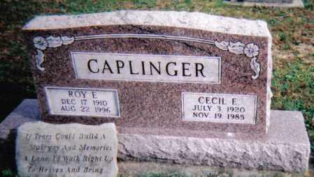 CAPLINGER, CECIL E. - Highland County, Ohio | CECIL E. CAPLINGER - Ohio Gravestone Photos