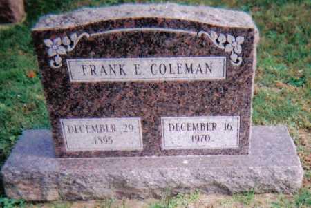 COLEMAN, FRANK E. - Highland County, Ohio   FRANK E. COLEMAN - Ohio Gravestone Photos