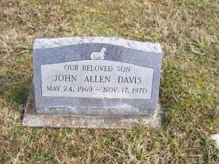 DAVIS, JOHN ALLEN - Highland County, Ohio | JOHN ALLEN DAVIS - Ohio Gravestone Photos