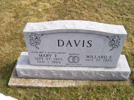 DAVIS, MARY F. - Highland County, Ohio | MARY F. DAVIS - Ohio Gravestone Photos