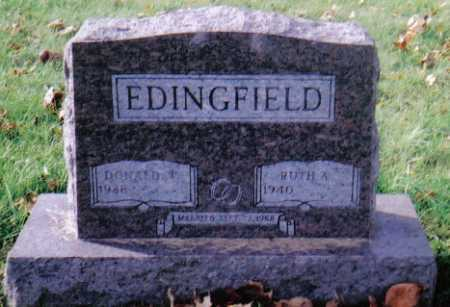 EDINGFIELD, DONALD W. - Highland County, Ohio | DONALD W. EDINGFIELD - Ohio Gravestone Photos