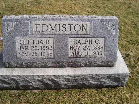 EDMISTON, RALPH C. - Highland County, Ohio | RALPH C. EDMISTON - Ohio Gravestone Photos