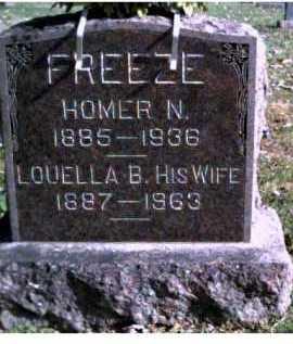 FREEZE, LOUELLA B. - Highland County, Ohio   LOUELLA B. FREEZE - Ohio Gravestone Photos