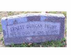 FRUMP, ERNEST DUNCAN - Highland County, Ohio | ERNEST DUNCAN FRUMP - Ohio Gravestone Photos