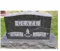 GLAZE, S. LLOYD - Highland County, Ohio   S. LLOYD GLAZE - Ohio Gravestone Photos