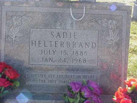 HELTERBRAND, SARAH (SADIE) - Highland County, Ohio   SARAH (SADIE) HELTERBRAND - Ohio Gravestone Photos
