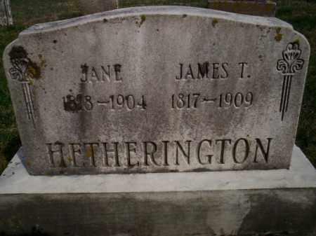 HETHERINGTON, JAMES T. - Highland County, Ohio | JAMES T. HETHERINGTON - Ohio Gravestone Photos
