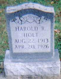 HOLT, HAROLD R. - Highland County, Ohio   HAROLD R. HOLT - Ohio Gravestone Photos