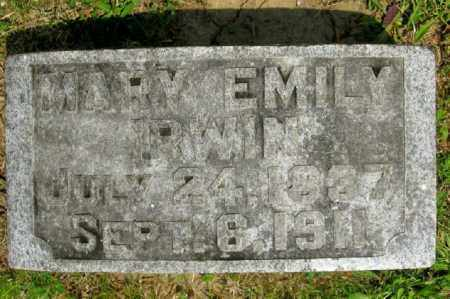 IRWIN, MARY EMILY - Highland County, Ohio | MARY EMILY IRWIN - Ohio Gravestone Photos
