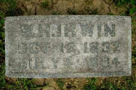 IRWIN, WILLIAM HARVEY (AKA W. H.) - Highland County, Ohio   WILLIAM HARVEY (AKA W. H.) IRWIN - Ohio Gravestone Photos